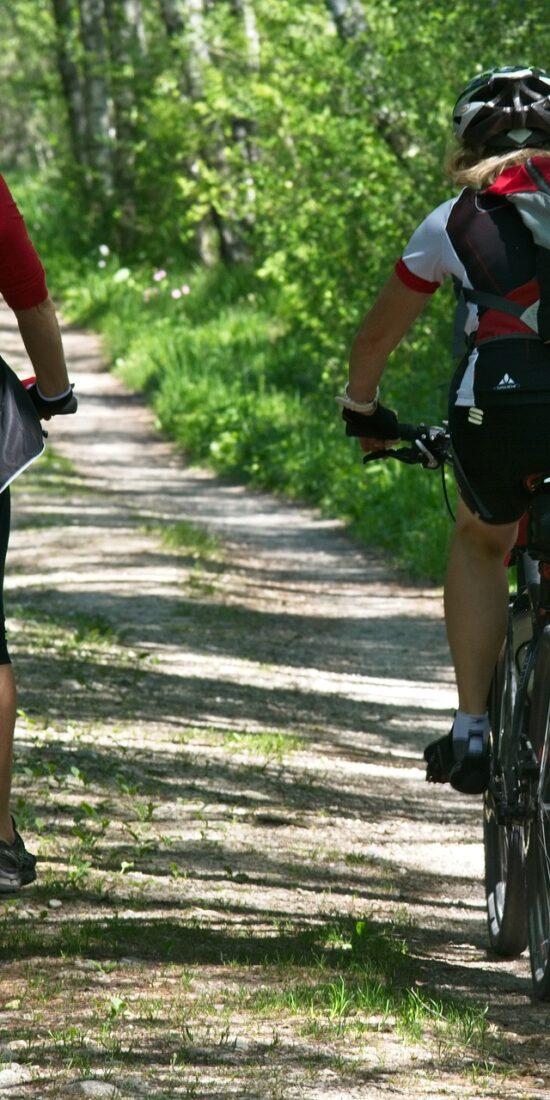 bike tour path in Valtenesi