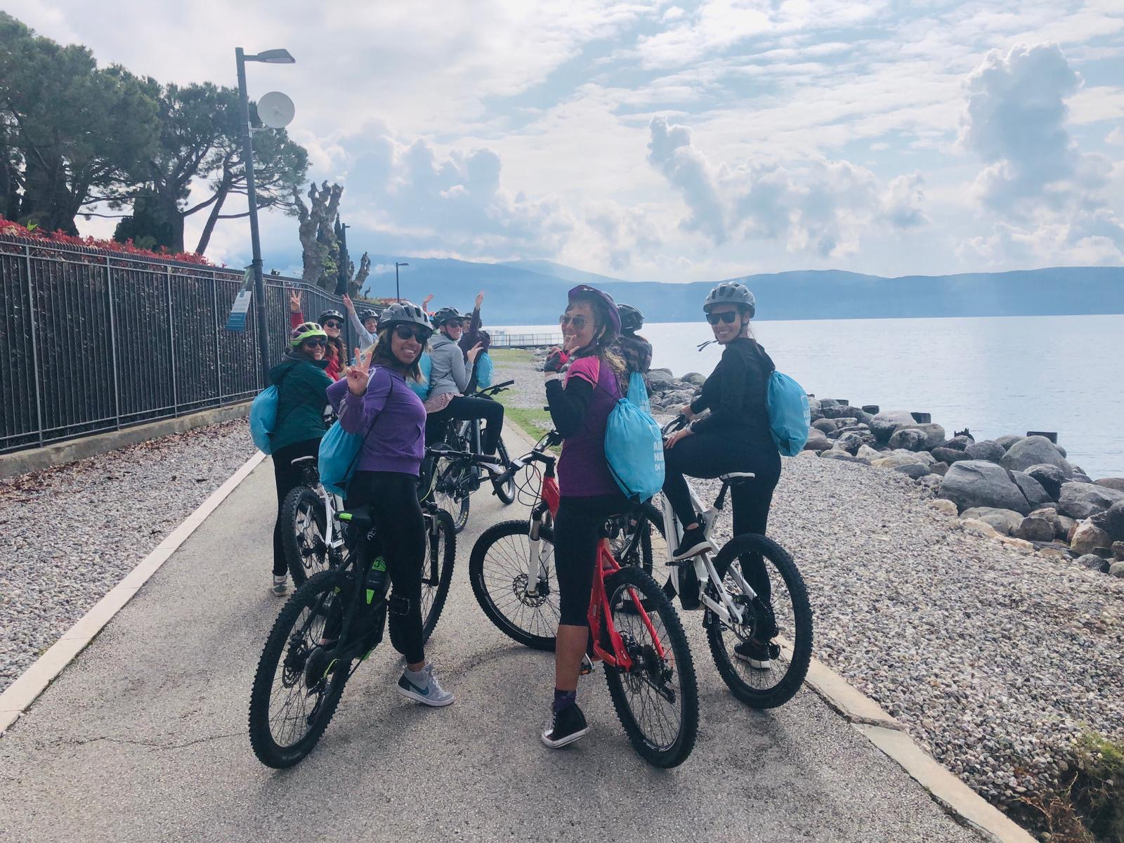 hen party e bike tour Gargnano