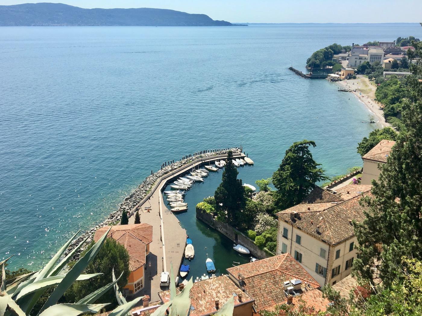 Toscolano port panoramic