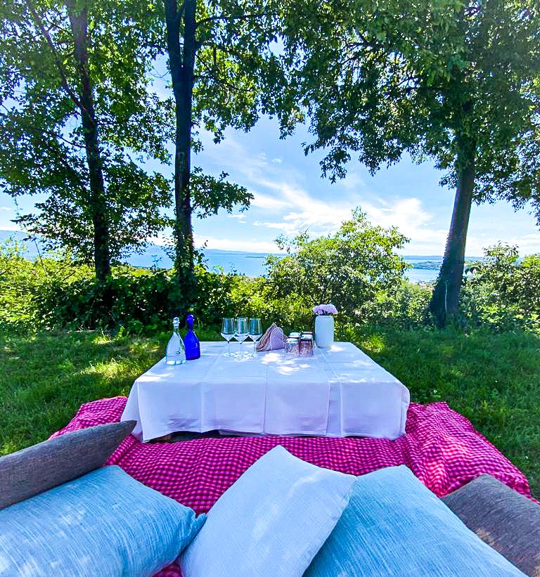 picnic vista lago