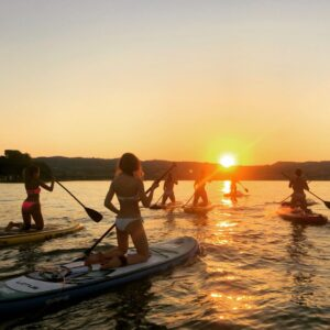 Tour in sup - tramonto - Garda E-motion